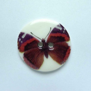 Red Admiral Medium Circular Button