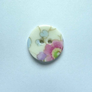Soft Blossom Small Circular Button
