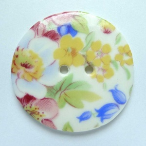 Summer Posy Large Circular Button
