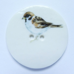 Sparrow Large Circular Button