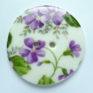 Violet Large Circular Button
