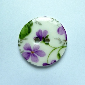 Violet Medium Circular Button