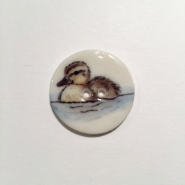 Swimming Duckling Smaller Medium Button