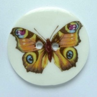 Circles Butterfly Large Circular Button