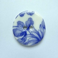 Chinese Blue Medium Circular Button