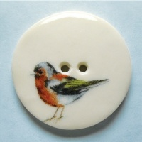 Chaffinch Large Circular Button