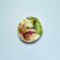 Chinese Blossom Small Circular Button