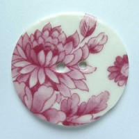 Chinese Pink Large Circular Button