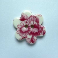 Chinese Pink Medium Flower Button