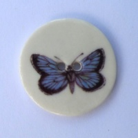 Blue Butterfly Medium Circle Button