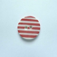 Red Stripe Small Circular Button