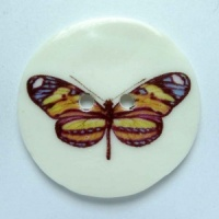 Striped Butterfly Large Circular Button