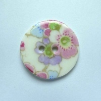 Soft Blossom Medium Circular Button