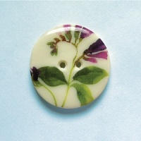 Summer Meadow Purple Flower Medium Circular Button