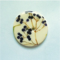 Summer Meadow Berries Medium Circular Button