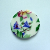 Spring Sprig Medium Circular Button