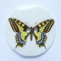 Swallowtail Large Circular Button