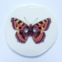 Tortoiseshell Large Circular Button