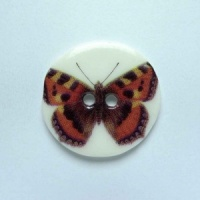 Tortoiseshell Medium Circular Button