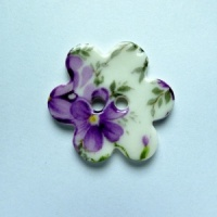 Violet Medium Flower Button