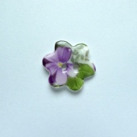 Violet Small Flower Button