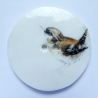 Wren Large Circular Button