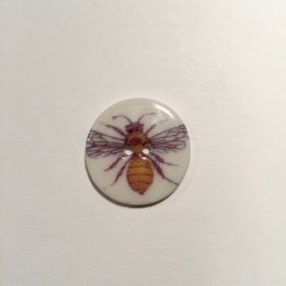 Bee Smaller Medium Button