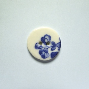 Chinese Blue Small Circular Button