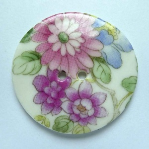 Chinese Blossom Large Circular Button