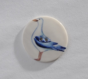 Large Circular Seagull Button