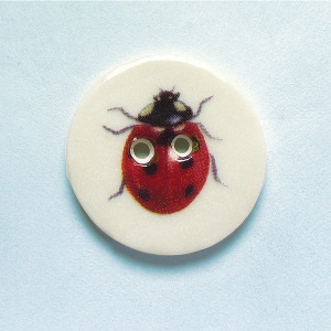 Ladybird Medium Circular Button