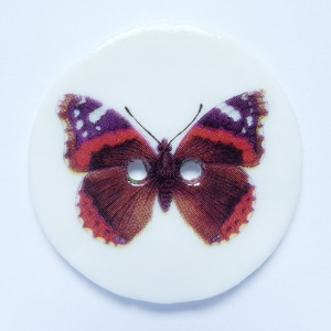 Red Admiral Large Circular Button
