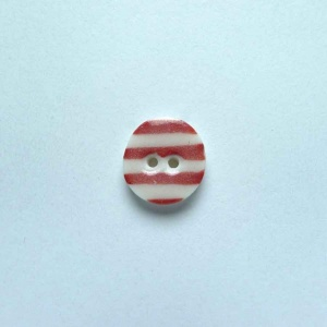 Red Stripe Tiny Circular Button