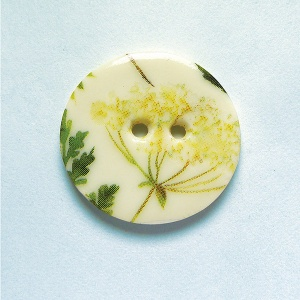 Summer Meadow Cow Parsley Medium Circular Button