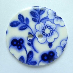 Summer Night Large Circular Button