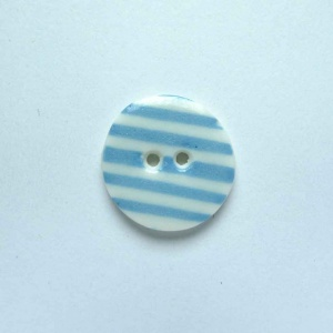 Turquoise Stripe Small Circular Button