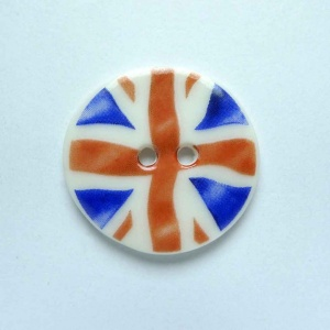 Union Jack Medium Circular Button