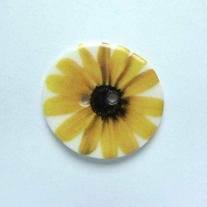 Yellow Gerbera Medium Circular Button