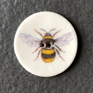 Bee Large Circular Button