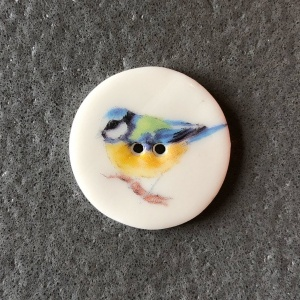 Bluetit Medium Circular Button