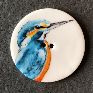 Giant Kingfisher Large Circular Button