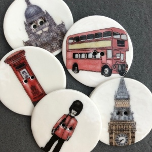 Assorted Large London Landmark Buttons