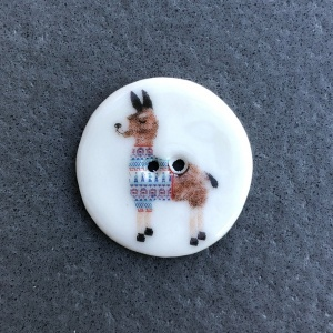 Assorted Llama Medium Circular Buttons