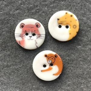 Wild Animals Small Circular Buttons