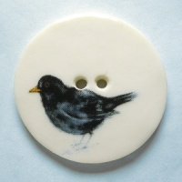 Blackbird Large Circuar Button