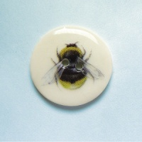 Bumblebee Medium Circular Button