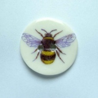 Bee Medium Circular Button