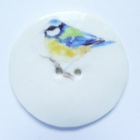Bluetit Large Circular Button