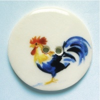 Rooster Multi Large Circular Button