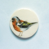 Chaffinch Medium Circular Button